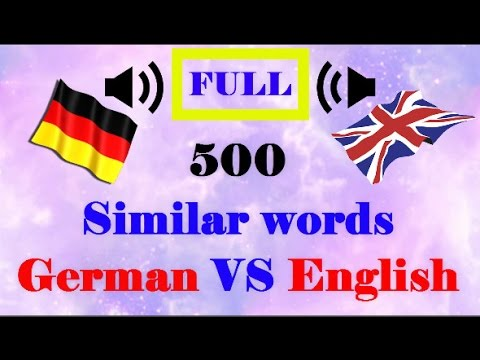 500 similar voice words │English VS German language│FULL
