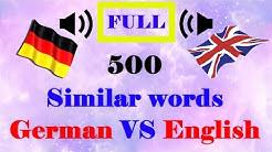 500 similar voice words │English VS German language│FULL