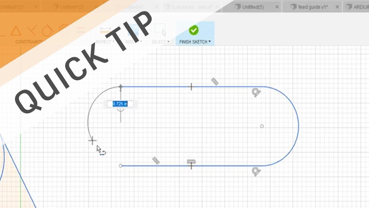 QUICK TIP: Line to Tangent Arc Shortcut
