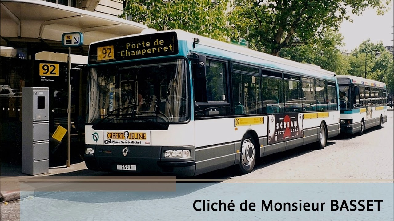 la ligne de bus ratp 92 porte de champerret gare montparnasse youtube. Black Bedroom Furniture Sets. Home Design Ideas