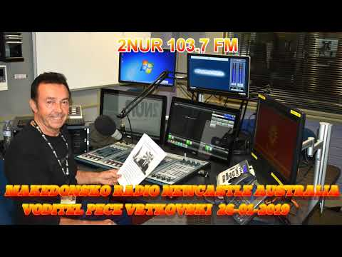 MAKEDONSKO RADIO 2NUR 103.7 FM NEWCASTLE AUSTRALIA  26-01-2019
