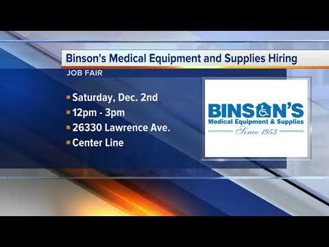 Workers Wanted: Binson's Medical Equipment And Supplies Is Hiring