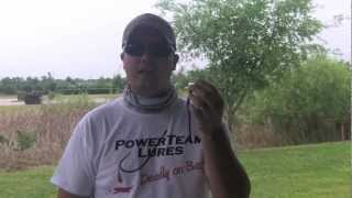 Shaky head fishing and Powerteam Lures Tickler!
