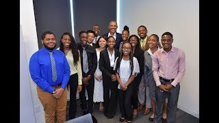 President Obama Surprises Obama Youth Jobs Corps Students in Chicago