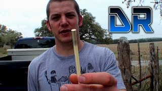 22LR in a Straw Experiment