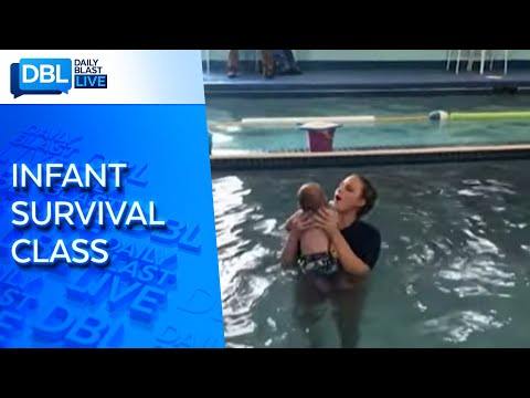 Baby's Swim Lesson Video Goes Viral