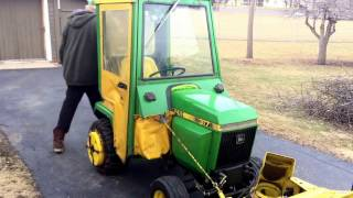 Cub Cadet - John Deere 317 with Brantly Manufacturing Implements