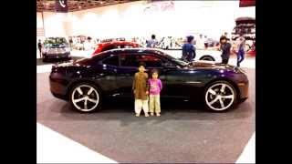 Car Show.wmv  Ibrahim & Noor in Dubai Car Show 2012