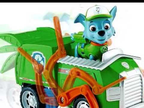 figurines jouets paw patrol la pat 39 patrouille camion de recyclage rocky youtube. Black Bedroom Furniture Sets. Home Design Ideas