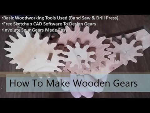 How To Make Wooden Gears - Part 2: Making The Gears