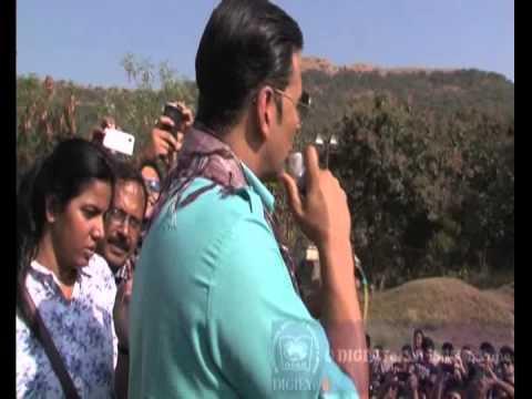 Actor Akshay Kumar at International School of Business & Media, Pune (ISB&M)