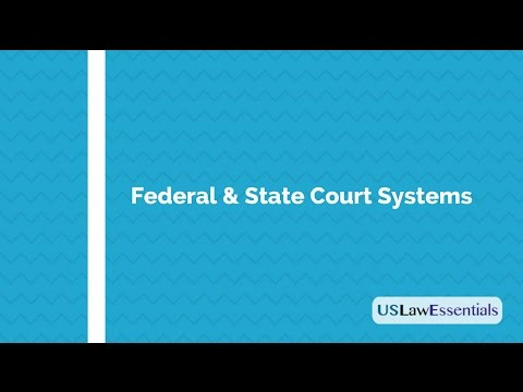 What are Federal and State Court Systems in the United States