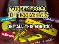 £10 Budget DIY Essentials Basic TOOL KIT for the home