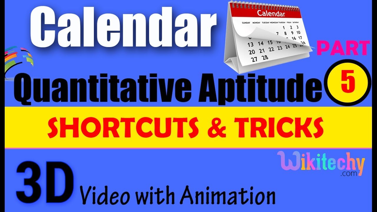 calendar 5 aptitude test preparation tricks online videos lectures calendar 5 aptitude test preparation tricks online videos lectures exams preparation