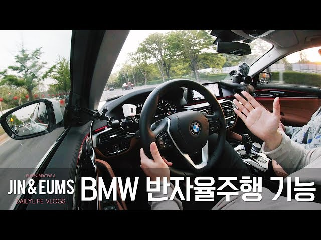 BMW 520d 럭셔리 SEㅣ5시리즈의 반자율주행 기능에 대해 설명하기, 도전!! with 김팀장&남호ㅣ엄스 Vlog #13