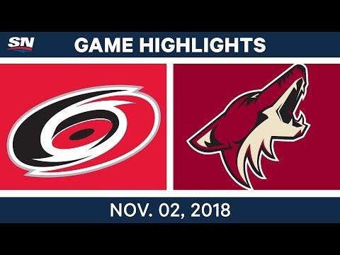 NHL Highlights | Hurricanes vs. Coyotes – Nov. 2, 2018