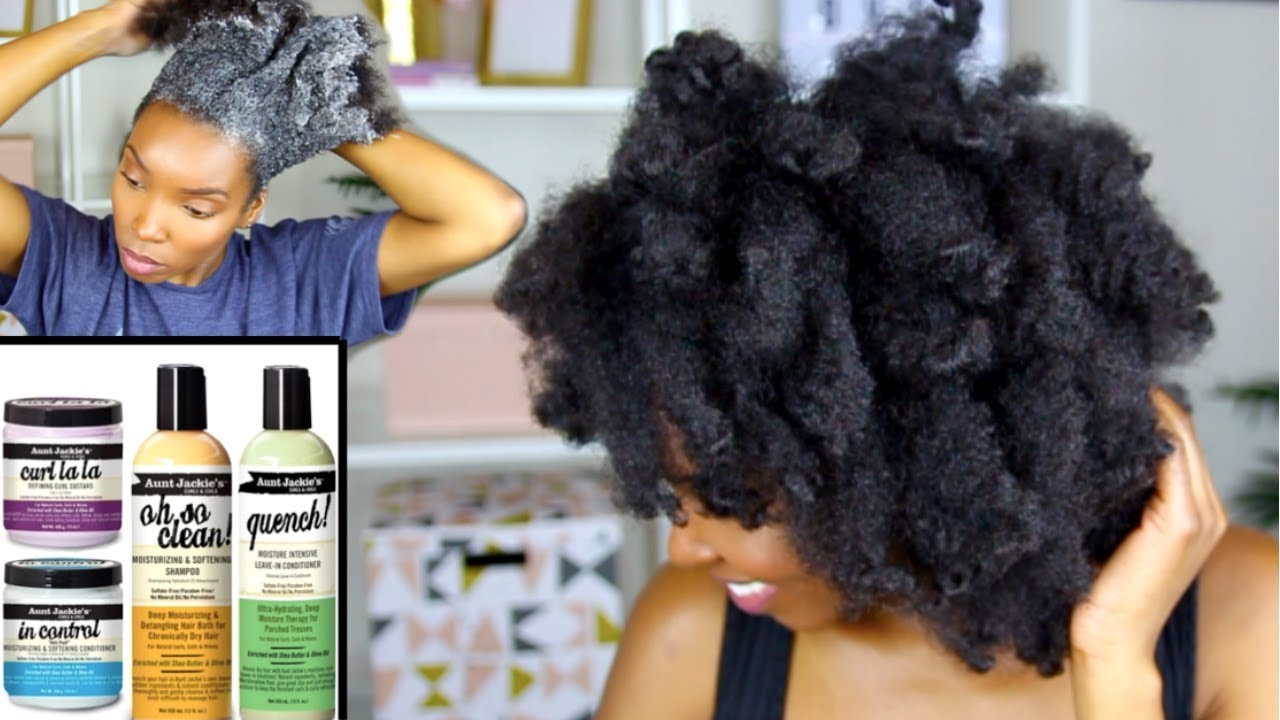One Brand Hair Care Routine Natural Hair Aunt Jackie S Curls Coils Collection 4b 4c Hair Youtube