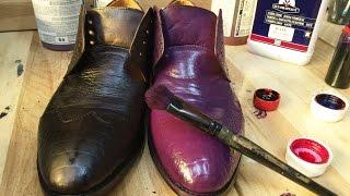 Покраска обуви СУПЕР ЭФФЕКТ(На данном видео мы показываем как можно полностью перекрасить обувь из одного цвета в другой. Данную обувь..., 2016-06-11T13:04:39.000Z)