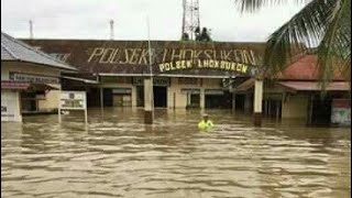 Mengerikan, Banjir Di Kota Lhoksukon Aceh Utara - 4 Desember 2017. #LestRewind