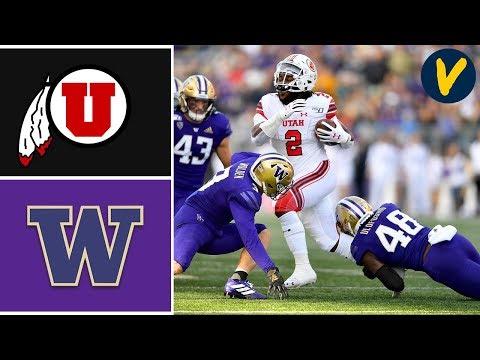 #9 Utah Vs Washington Highlights   Week 10   College Football 2019