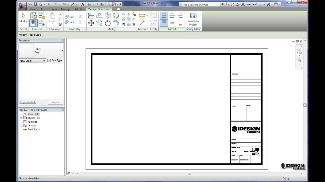 Creating Titleblocks In Revit From Existing Dwgs Youtube