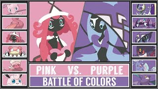 PINK vs PURPLE Pokémon (Pokémon Sun/Moon) - Battle of Colors