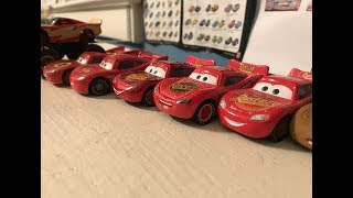 The evolution of (and many inconsistencies of) the Lightning McQueen Diceast Mold