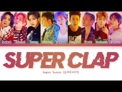 SUPER JUNIOR SUPER Clap Lyrics (슈퍼주니어 SUPER Clap 가사) [Color Coded Lyrics/Han/Rom/Eng]