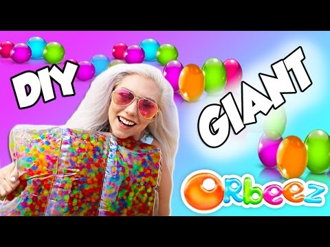 DIY GIANT ORBEEZ PILLOW  PERFECT FOR SUMMER SO MUCH FUN!
