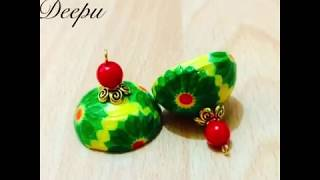 Quilling decoupage earrings