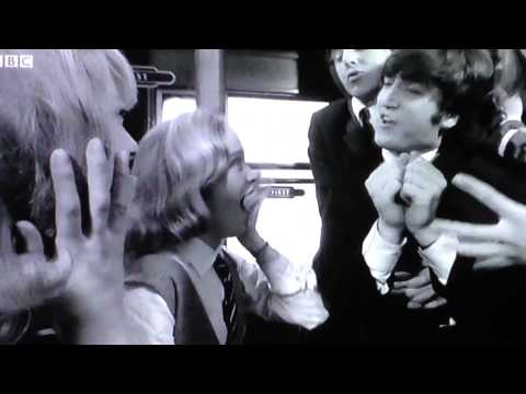 Train scene from The Beatles movie A Hard Days Night.