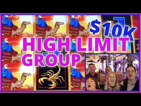 🎰💰 20 People ✖ $500 Each =💲10,000 HIGH LIMIT GROUP SLOT PULL
