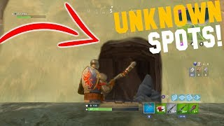 TOP 3 UNKNOWN HIDING SPOTS (only 0.01% know about them!)   Fortnite: Battle Royale