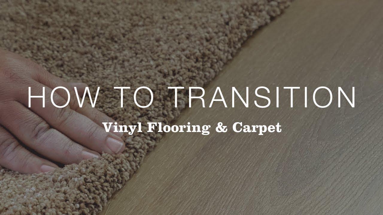 transition between vinyl flooring