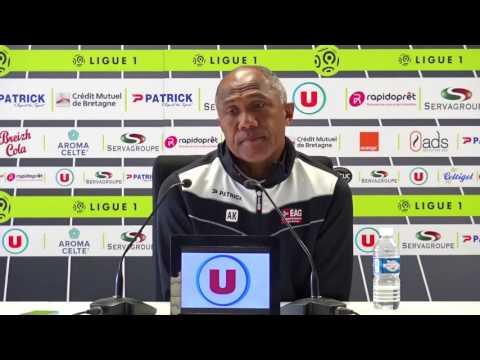 Le point-presse d'Antoine Kombouaré avant Lyon-Guingamp.