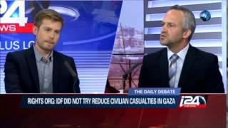 """Debate with """"Breaking the Silence"""" - i24 News"""
