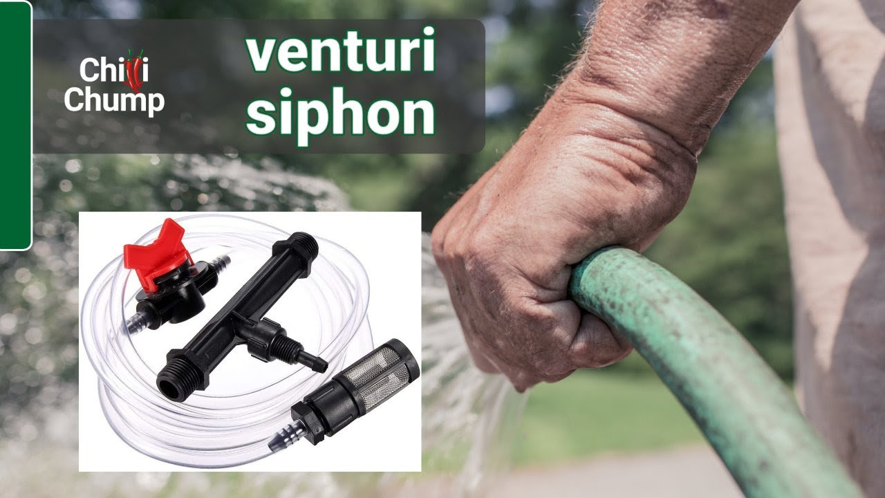 Fertilise Your Garden With A Hose And Venturi Siphon