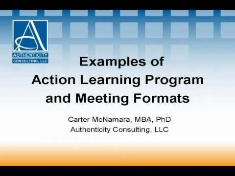 Examples Of Action Learning Program And Meeting Formats 3 Of 5