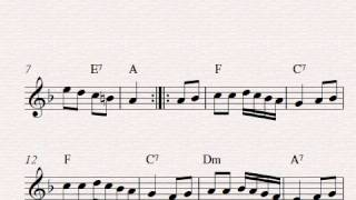 Free easy violin sheet music, Rondo Alla Turca (Turkish March) by Mozart