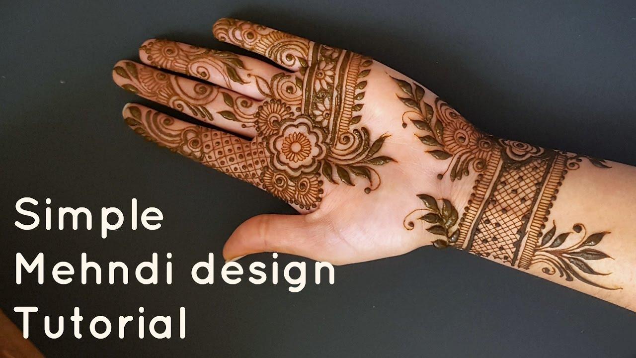 Diy simple henna mehndi tutorial youtube diy simple henna mehndi tutorial baditri Images