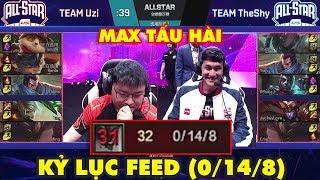 [All Star LPL 2019] Max tấu hài với TEAM UZI vs TEAM THESHY - Lộ diện Thánh Feed với kỷ lục (0/14/8)