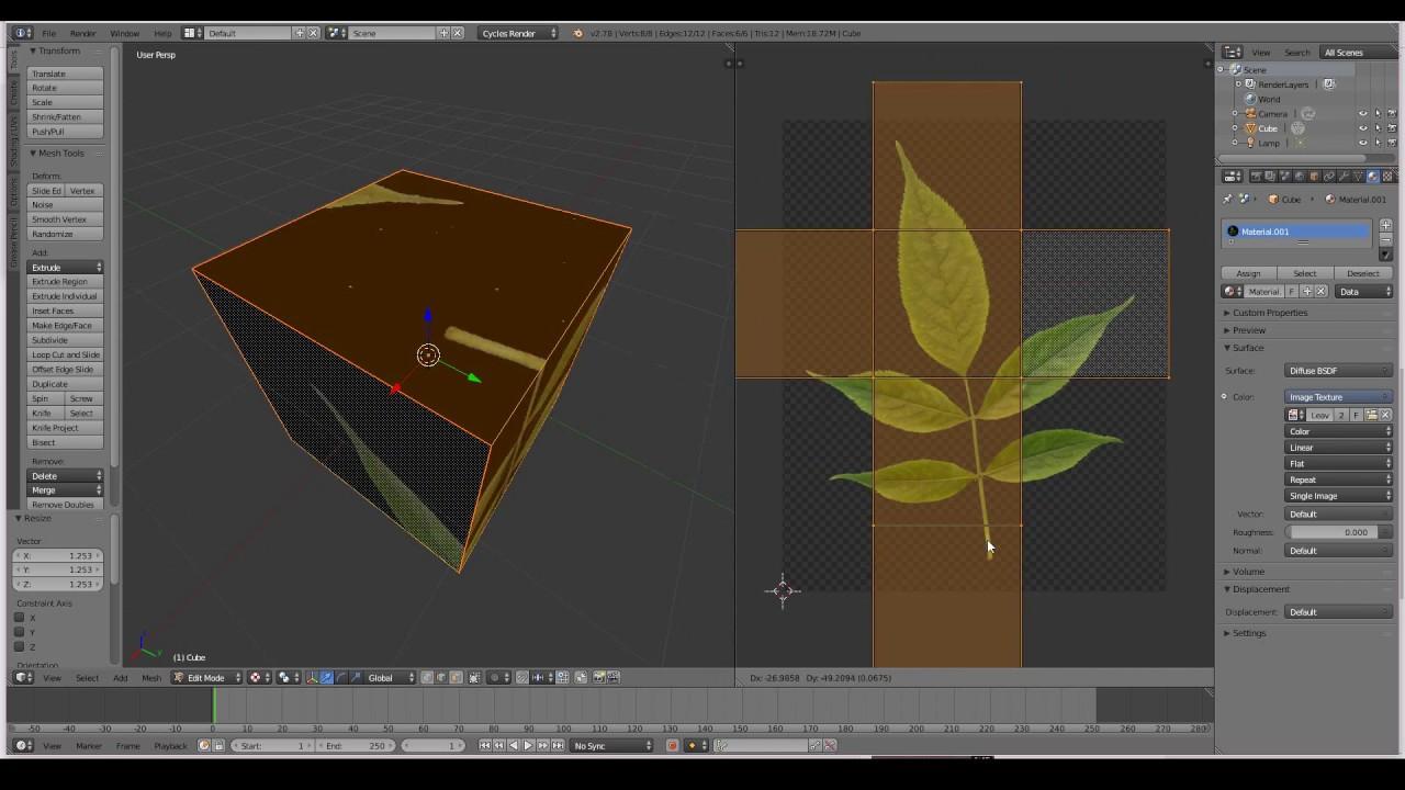 Blender unwrapping tutorial.