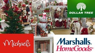 CHRISTMAS 2019 DECOR AT HOME GOODS DOLLAR TREE MICHAELS SHOP WITH ME SHOPPING STORE WALK THROUGH