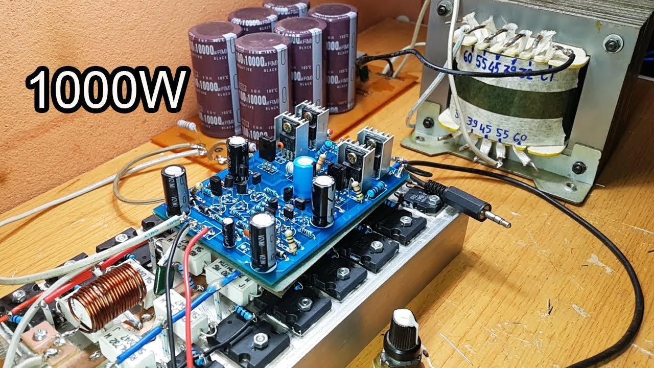 Amazing 1000W amplifier circuit, Gerber File  YouTube