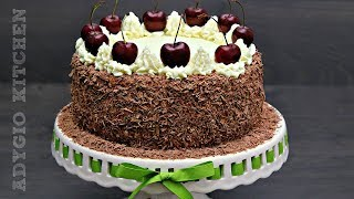 Tort Padurea Neagra cu visine sau cirese Black Forest Cake Adygio Kitchen
