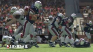 Backbreaker football video game tv trailer online PS3 Xbox 360