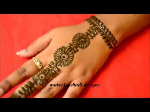 Easy Simple Mehndi Design for Hands, Easy Arabic Mehndi Designs for Back  Hands