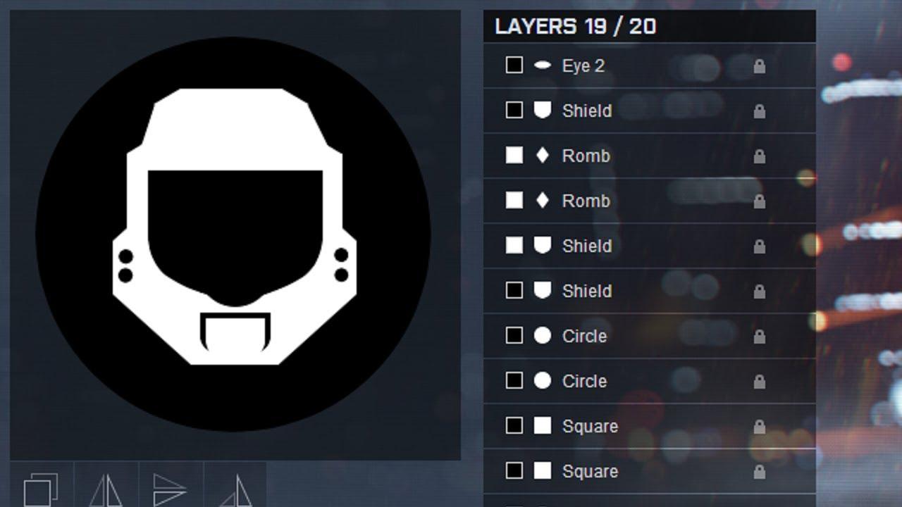 Battlefield 4 Halo Emblem Helmet Youtube