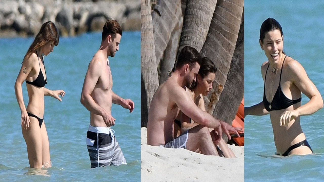 Jessica Biel And Justin Timberlake Show Off Their Beach Bodies