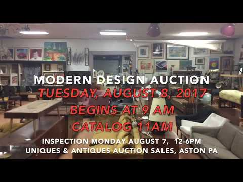 August 8, 2017 Modern Design Auction - CATALOG